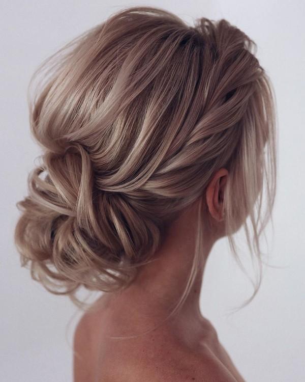 elegant low bun updo wedding hairstyles