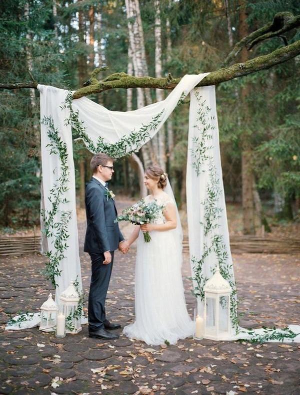 elegant simple outdoor wedding backdrop ideas