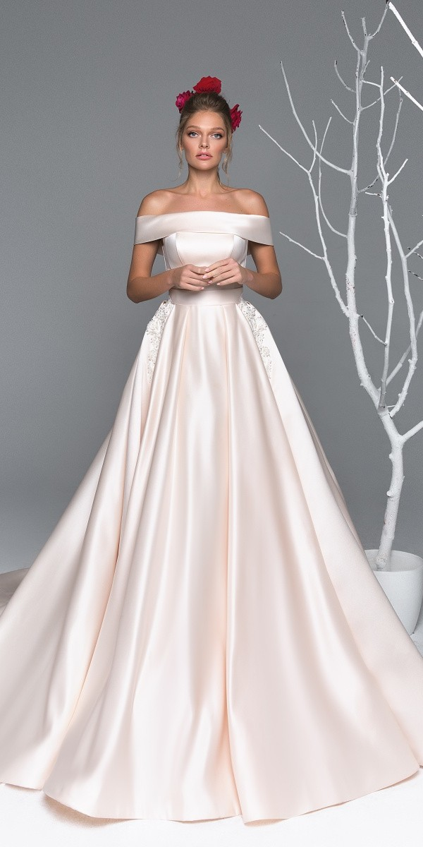 Eva Lendel elegant simple wedding dresses agata
