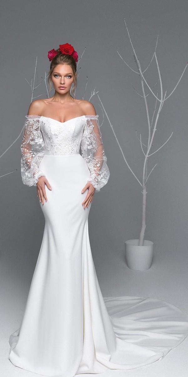 Eva Lendel elegant simple wedding dresses ava
