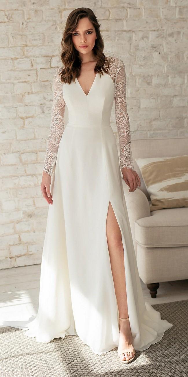 Long Sleeve Boho Wedding Dress2