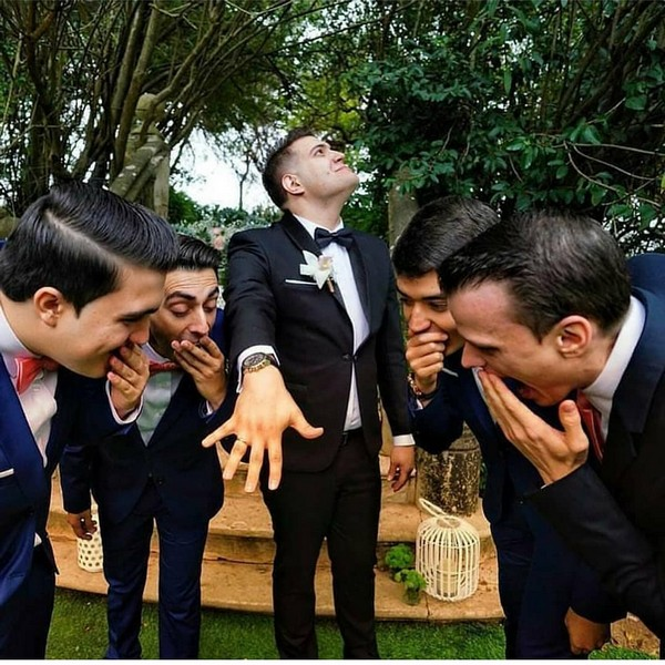 funny show off the ring groomsmen photo ideas