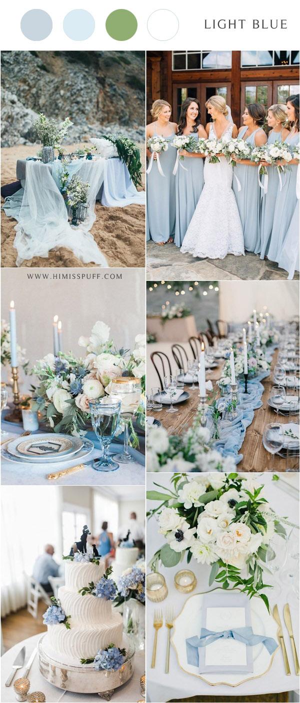 light blue wedding color ideas for spring summer wedding