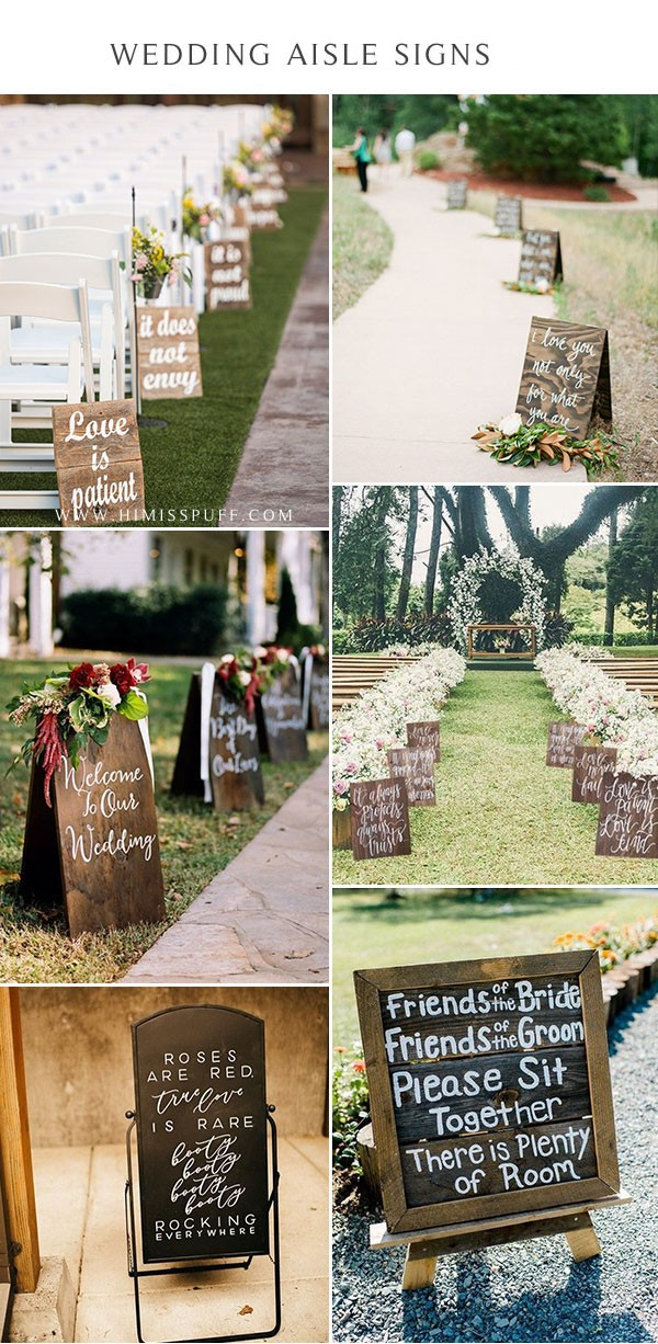 love quote sign wedding signs for walking down the aisle Wedding Aisle Decor wood ideas