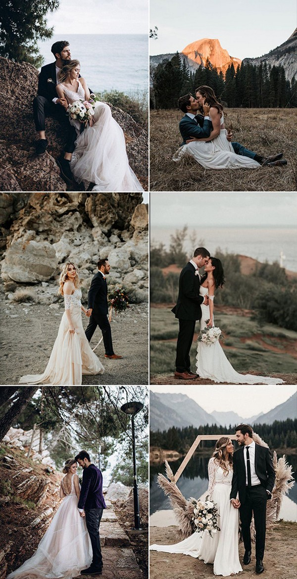 must have bride and groom mountain wedding photo ideas