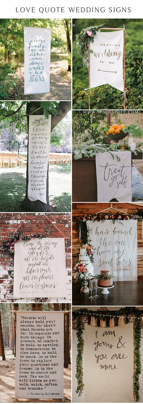 wedding Fabric Signs love quote sign Wedding Wall Best Day Ever wedding decor ideas