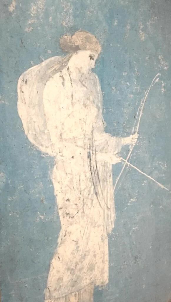 maleri af en skytte som kigger på behandlings priser.