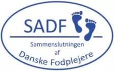 logo af sammenslutningen af danske fodplejere til forsiden af klinik himmelstroeg