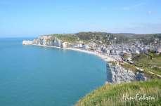 Steilküste beim Felsentor Porte d'Aval in Étretat #Steilküste #Normandie
