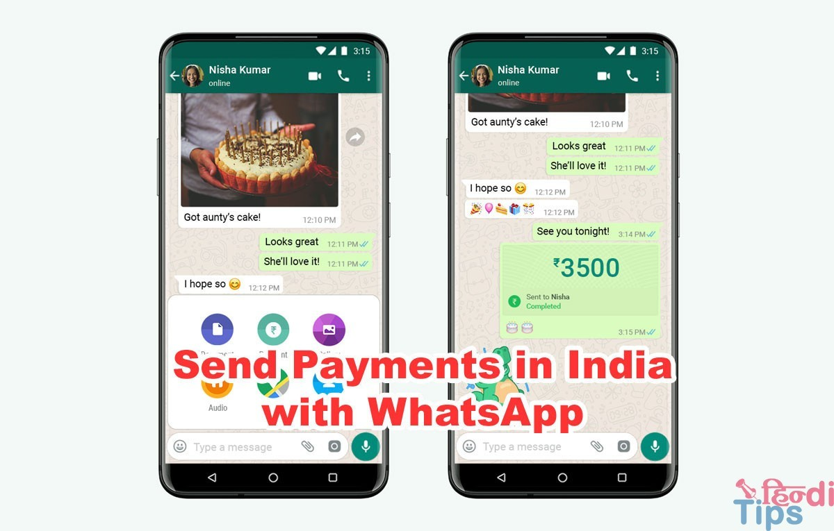 Send Payments in India with WhatsApp