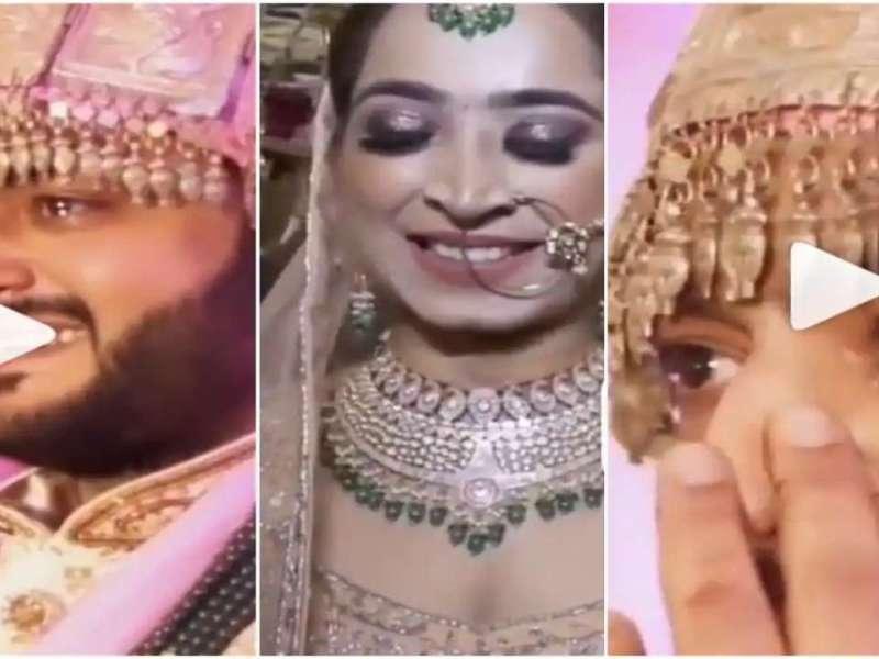 Groom breaks down in tears after seeing his bride, WATCH viral video here