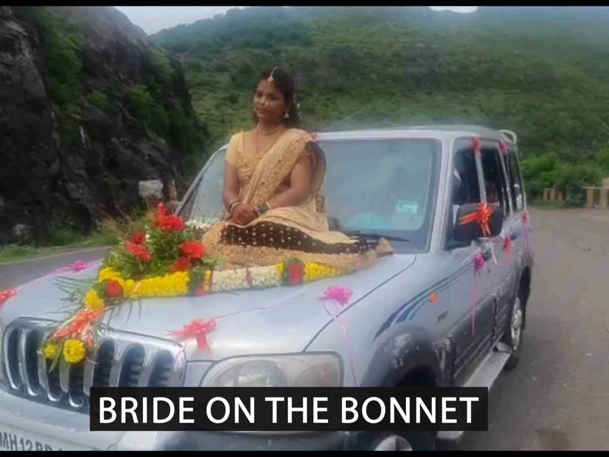 पुणे की एक दुल्हन का एसयूवी के बोनट पर सफर करने का वायरल वीडियो मुसीबत में डाल दिया |  टीओआई मूल