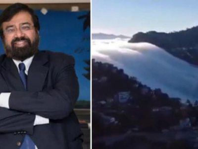 हर्ष गोयनका ने मिजोरम से बादल झरने का मंत्रमुग्ध कर देने वाला वीडियो शेयर किया।  वायरल