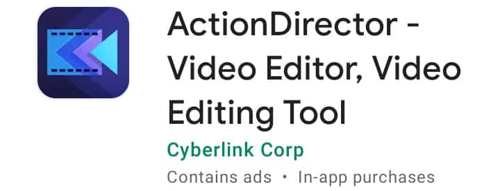 Action director, Video editor Apps