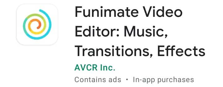 Funimate , Video editor Apps