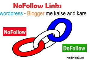 Nofollow link How to add wordpress