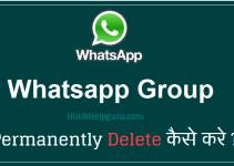 whatsapp group Permanently Delete