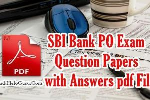 SBI Bank PO Exam Question Papers Answers key