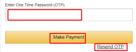 OTP generate by online payment