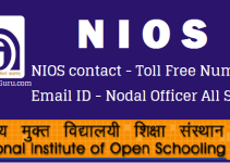 DELED NIOS contact - Toll Free Number - Email ID - Nodal Officer All State