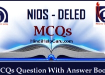 NIOS DELED Objective Question Bank - MCQs