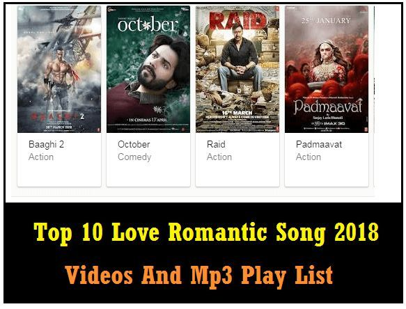 Top 10 Love Romantic Song 2018 - Bollywood [Hindi] Free