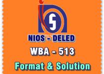 nios DELED WBA 513 hindi solved