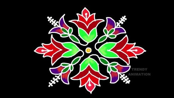 2019 sankranthi Dathura flower rangoli