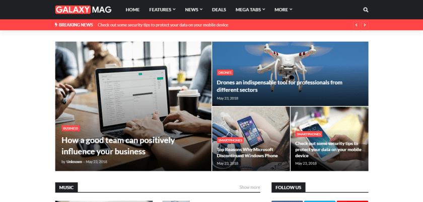 Galaxy Mag Blogger Templates Download