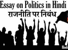 hindiinhindi Essay on Politics in Hindi