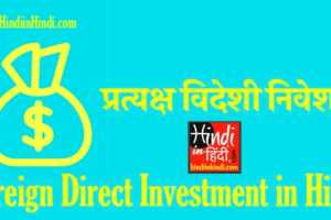 hindiinhindi Foreign Direct Investment in Hindi