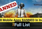 List Of 118 Chinese ban apps