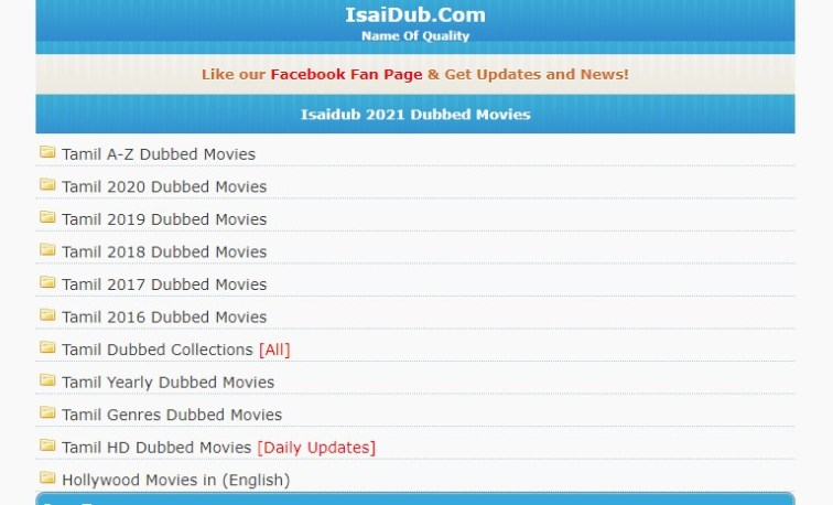 isaidub 2021 - Latest Tamil Dubbed (HD) Movie Download