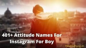 Attitude Names For Instagram For Boy