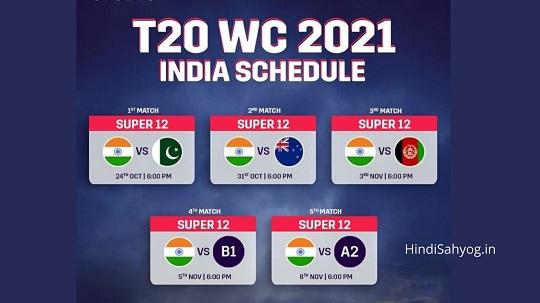 T20 World Cup Mein India Ka Match Kab Hai