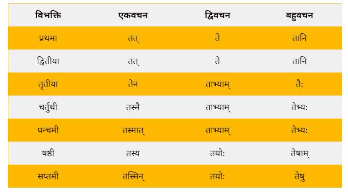 Tat Shabd roop in Sanskrit