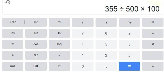 Percentage Kaise Nikale in Calculator