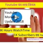 YouTube New Monetize Update