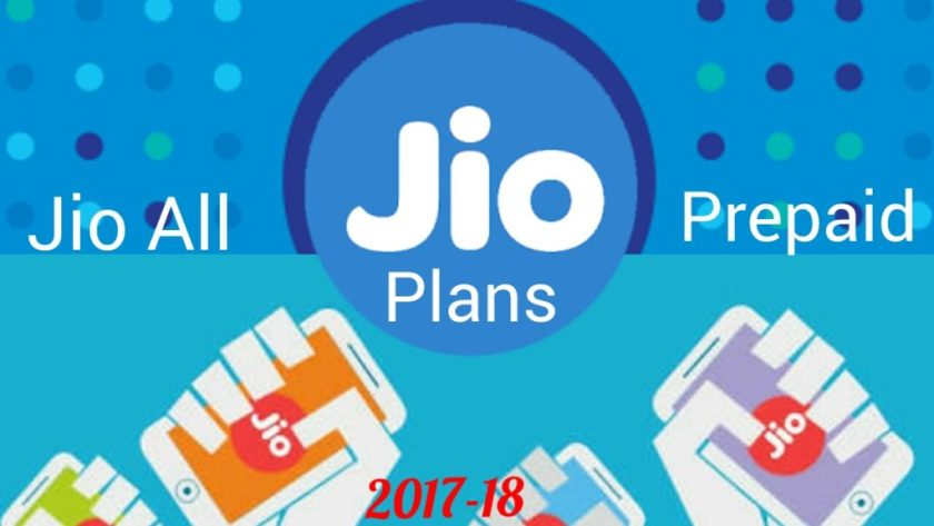 Jio prepaid plans 2018 in hindi