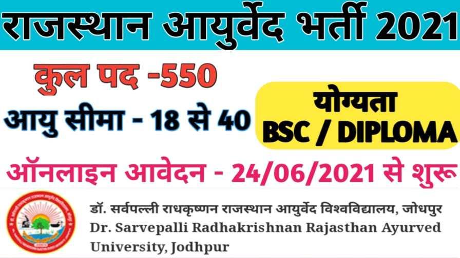 Rajasthan-Ayurveda-Recruitment-2021