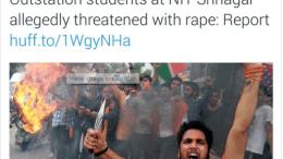 Media distortion of NIT Srinagar