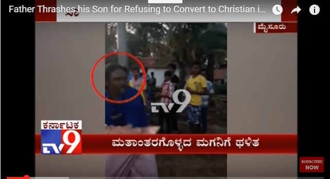 Father Thrashes his 16-year-old Son for Refusing to Convert to Christianity in Mysuru, Karnataka