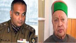 IG Police Zahur Zaidi and Virbhadra Singh
