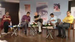 Barkha Dutt promotes Manish Tewari's Book