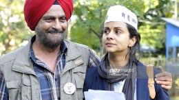 Gul Panag with Father