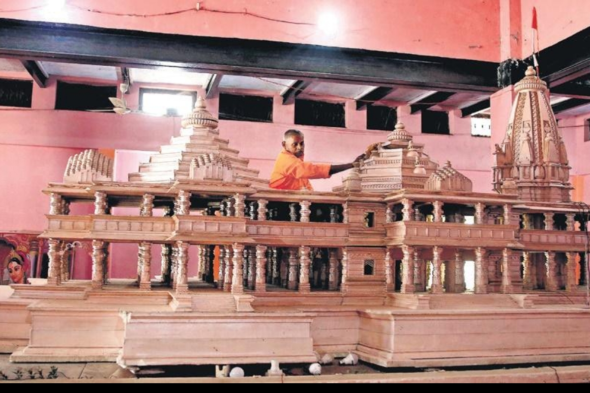 Proposed design of the Ram Mandir