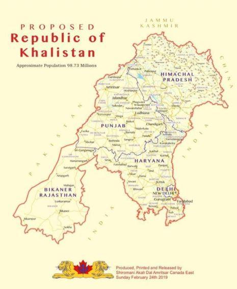 Khalistan map