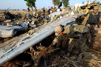 All 127 people on board Boeing 737-200 of Bhoja Air, that crashed near Islamabad, have been confirmed dead. AFP Photo/Aamir Qureshi