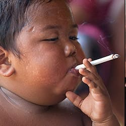 Smoking 2 year old