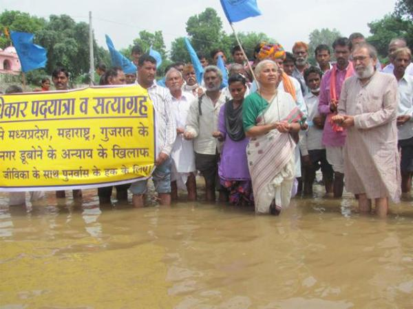 Foot march to protest raising height of Sardar Sarovar dam